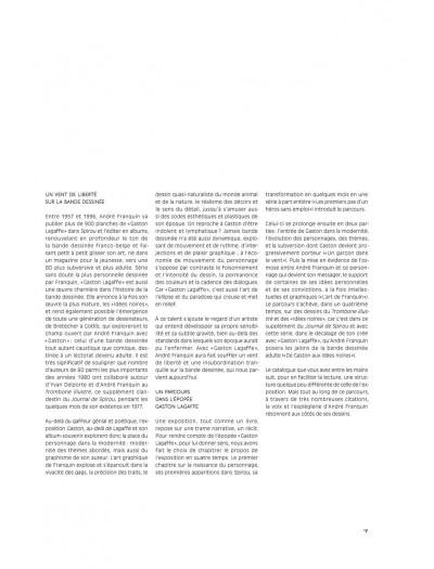 Page 7 Gaston - Au-delà de Lagaffe (catalogue de l'expo à la BPI)