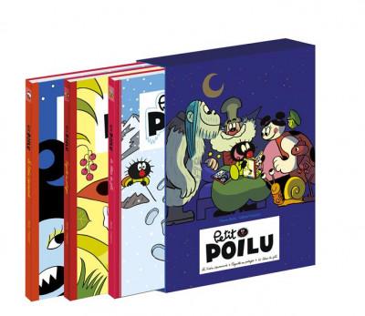 Couverture Petit Poilu coffret 3 albums + poster