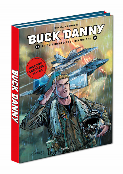 Couverture Fourreau Buck Danny tomes 54 + 55