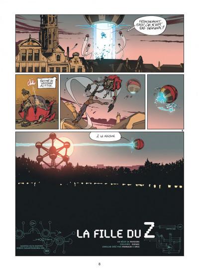 Page 8 Zorglub tome 1 - La fille du Z + ex-libris offert