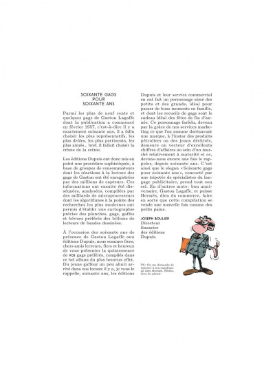 Page 3 Gaston hors série - L'anniv' de Lagaffe