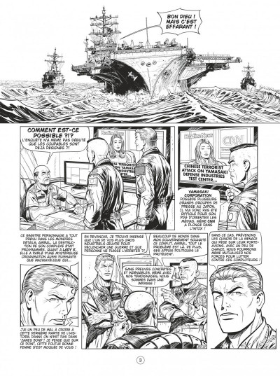 Page 2 Buck Danny tome 55 - Defcon one N&B