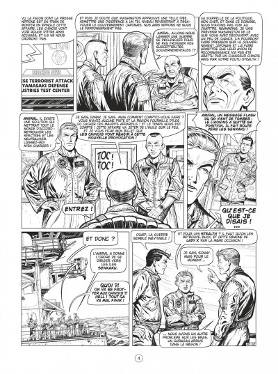 Page 3 Buck Danny tome 55 - Defcon one N&B