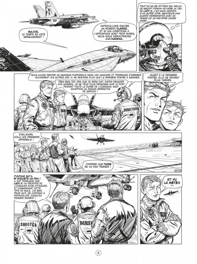 Page 6 Buck Danny tome 55 - Defcon one N&B