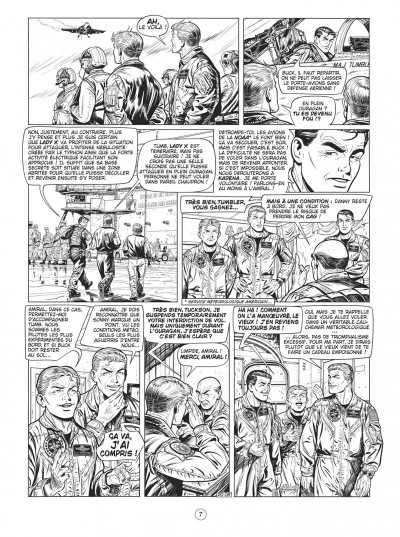 Page 7 Buck Danny tome 55 - Defcon one N&B