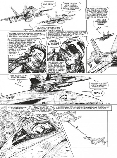 Page 9 Buck Danny tome 55 - Defcon one N&B