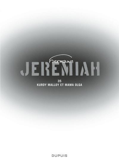 Page 3 Jeremiah tome 35 - Kurdy Malloy