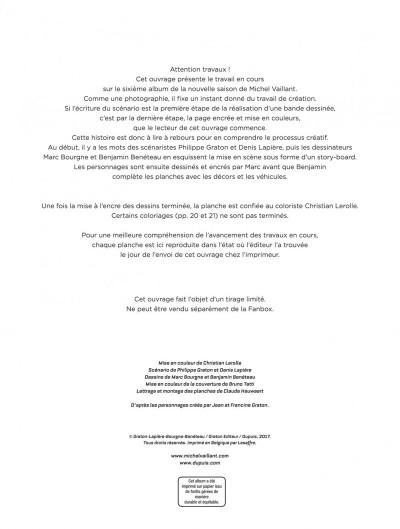 Page 1 Michel Vaillant - nouvelle saison - Fan Box tome 6
