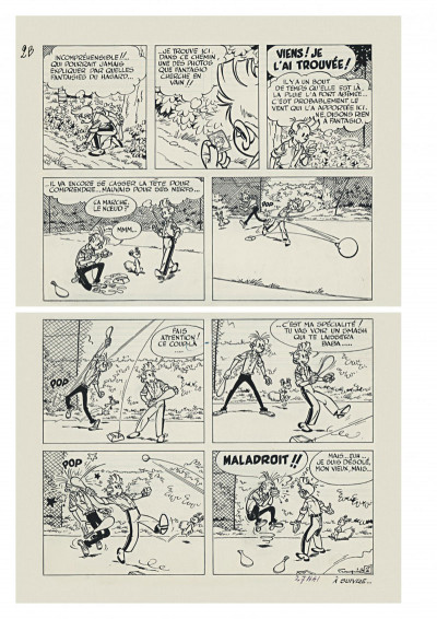Page 6 Spirou et Fantasio - tirage de tête version originale tome 22