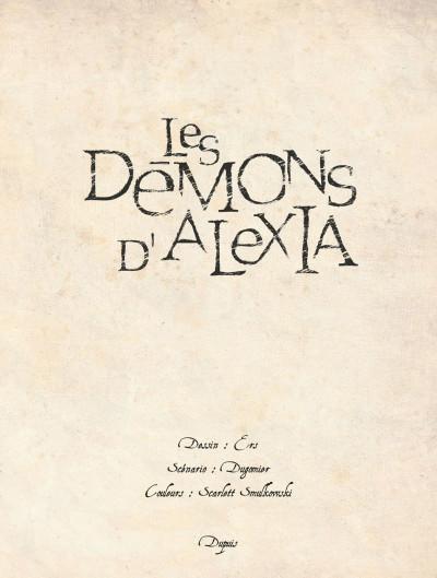 Page 2 Les démons d'Alexia - intégrale tome 1