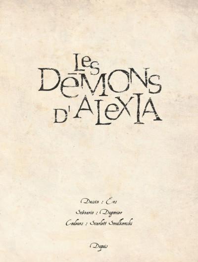 Page 3 Les démons d'Alexia - intégrale tome 1