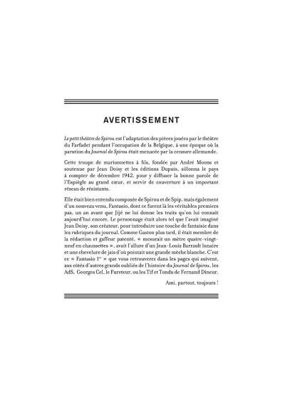 Page 2 Le petit théâtre de Spirou
