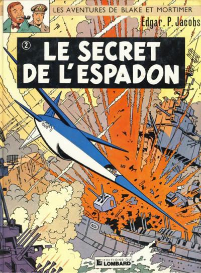 Couverture Blake et Mortimer tome 2 - Le secret de l'Espadon 2