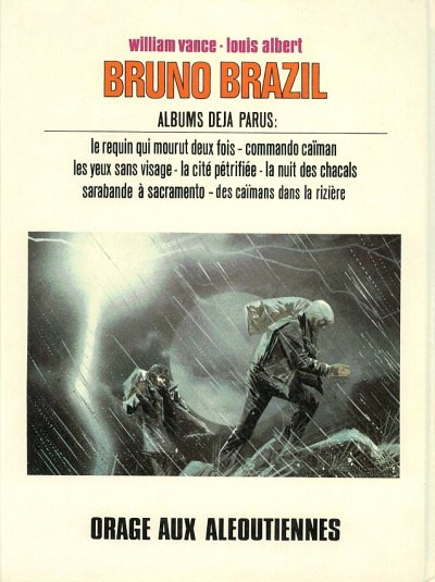 Dos bruno brazil tome 8 - orage aux aleoutiennes