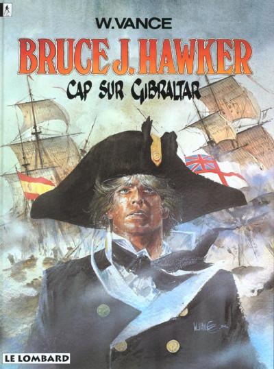 Couverture bruce j.hawker tome 1 - cap sur gibraltar