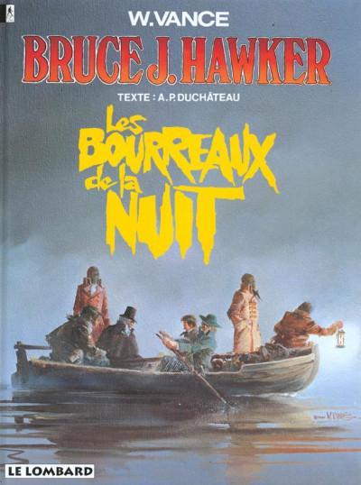 Couverture bruce j.hawker tome 6 - les bourreaux de la nuit