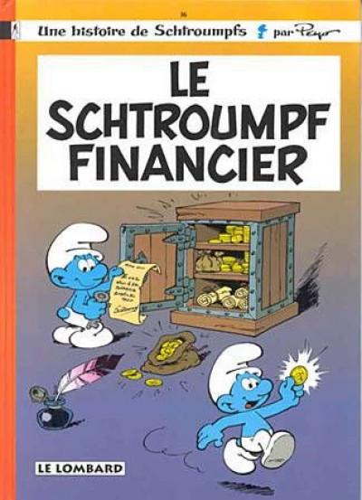 Couverture Les schtroumpfs tome 16 - Le schtroumpf financier