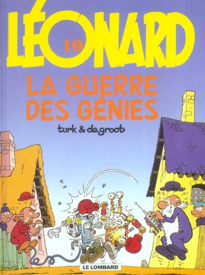 Couverture léonard tome 10 - la guerre des génies