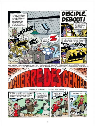 Page 3 léonard tome 10 - la guerre des génies