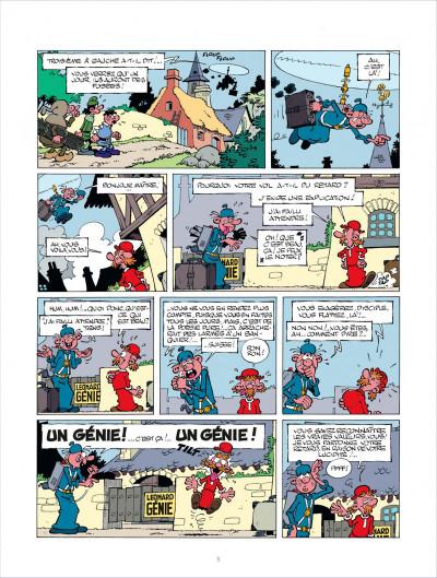 Page 5 léonard tome 10 - la guerre des génies