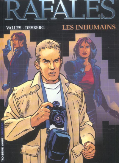 Couverture rafales tome 1 - les inhumains