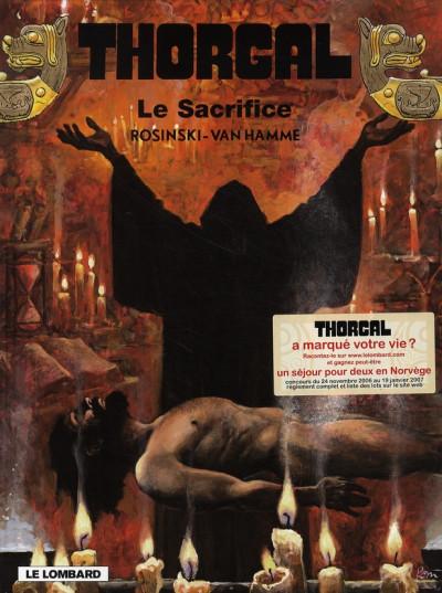 Couverture thorgal tome 29 - le sacrifice
