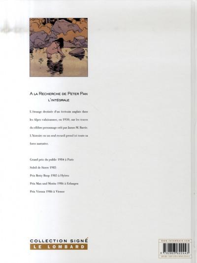 Dos la recherche de peter pan - intégrale tome 1 et tome 2