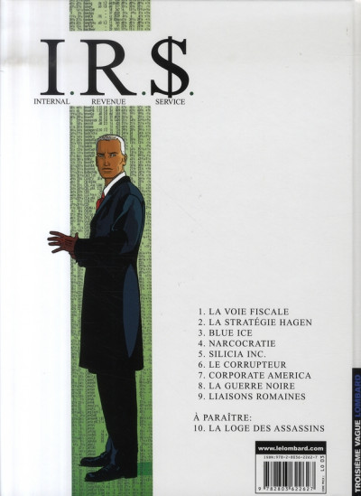 Dos ir$ tome 9 irs - liaisons romaines