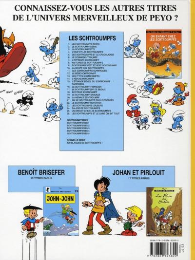 Dos les schtroumpfs tome 26 - les schtroumpfs et le livre qui dit tout