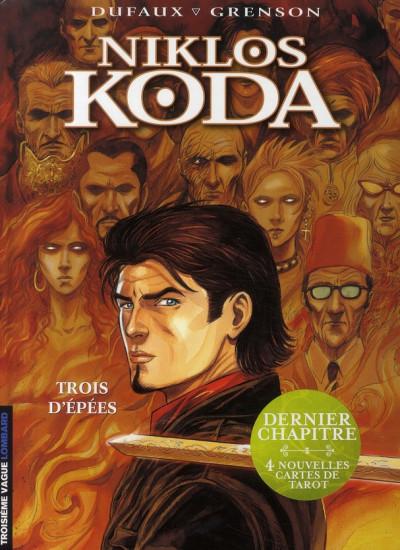 Couverture niklos koda tome 10 - trois d'épées