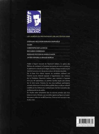 Dos jeunes talents bd ; prix raymond leblanc 2008