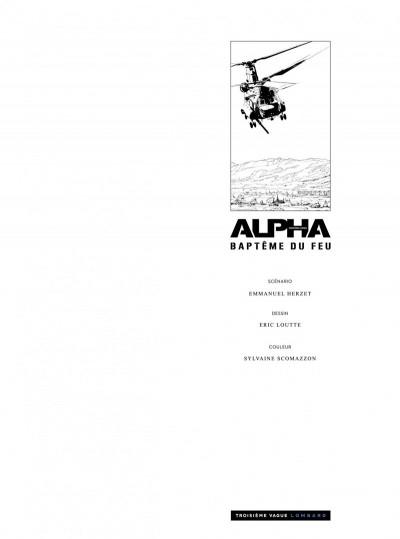 Page 1 Alpha premières armes tome 1