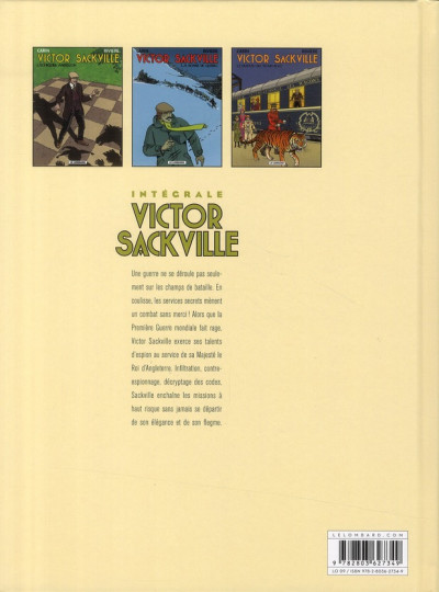 Dos Victor Sackville - intégrale tome 7
