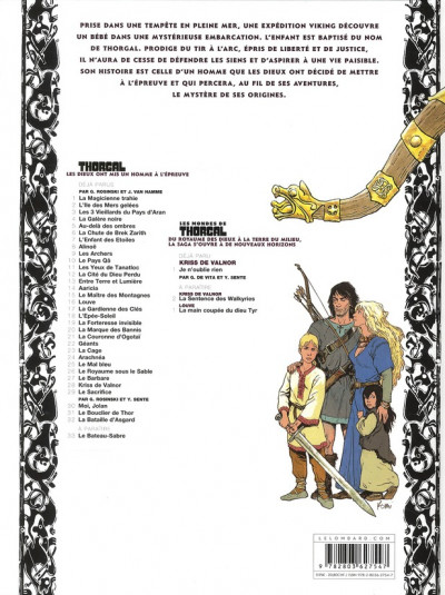 Dos Thorgal tome 32 - la bataille d'Asgard