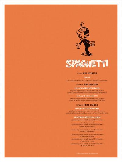 Page 5 Spaghetti - intégrale tome 5