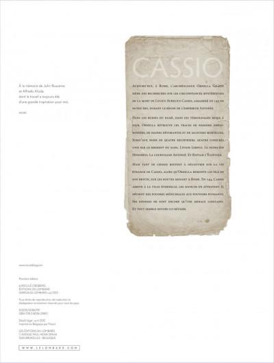 Page 1 Cassio tome 5