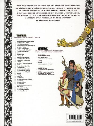 Dos Thorgal tome 33 - Le Bateau-Sabre