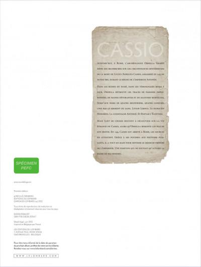 Page 1 Cassio tome 6