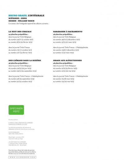 Page 1 Bruno Brazil - intégrale tome 2