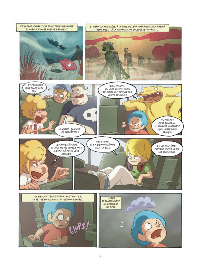 Page 9 mangetrouille tome 3 - coquillage, chocottes et clapotis
