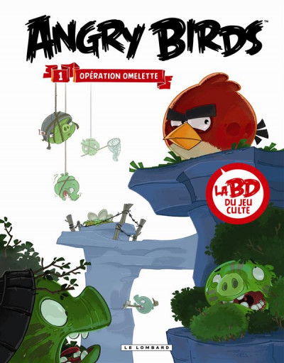 Couverture angry birds tome 1 - opération omelette