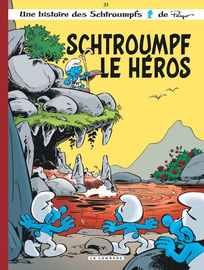 Couverture Les Schtroumpfs tome 33 - le héros