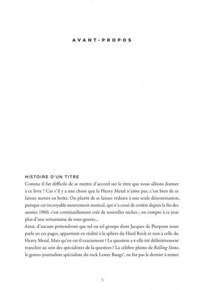 Page 5 La petite bédéthèque des savoirs tome 4 - Le heavy metal