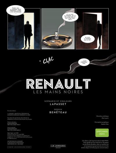 Page 3 Renault, les mains noires + ex-libris offert