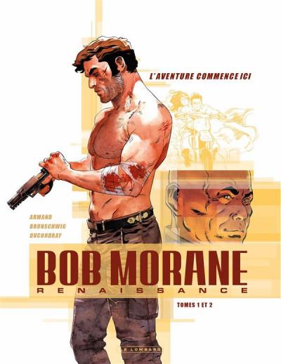 Couverture Bob Morane - renaissance - fourreau tomes 1 et 2