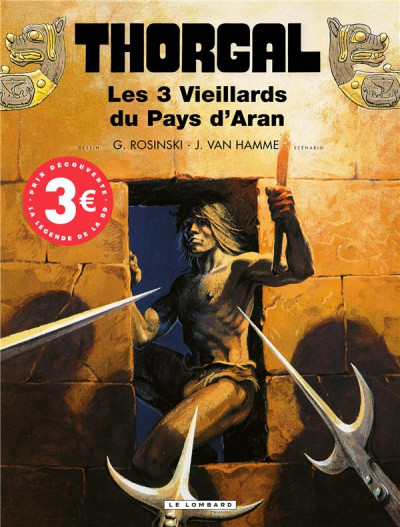 Couverture Thorgal tome 3 - les trois vieillards du pays d'aran (éd. promo)