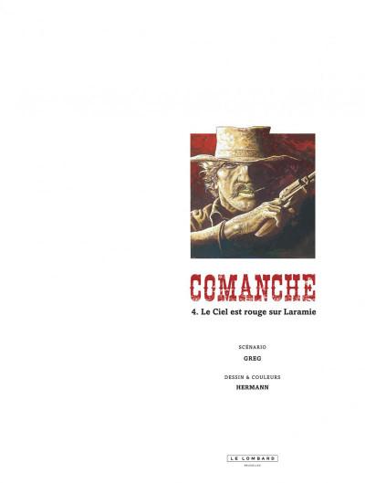 Page 1 Comanche tome 4