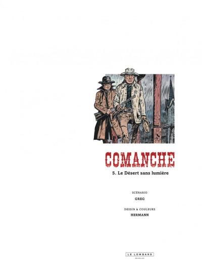 Page 1 Comanche tome 5