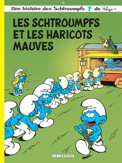 Couverture Les Schtroumpfs tome 35 - Les Schtroumpfs et les haricots mauves