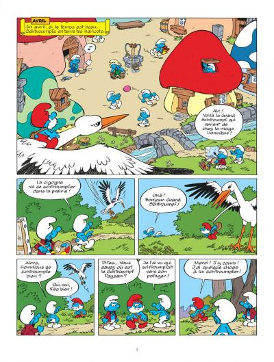 Page 3 Les Schtroumpfs tome 35 - Les Schtroumpfs et les haricots mauves